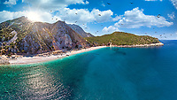 The beach Tsilaros in Evia island, Greece
