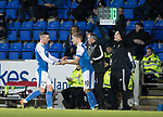 St Johnstone v Ross County…24.10.17…  McDiarmid Park…  SPFL<br />Michael O'Halloran goes off injured replacved by Daviod Wotherspoon<br />Picture by Graeme Hart. <br />Copyright Perthshire Picture Agency<br />Tel: 01738 623350  Mobile: 07990 594431