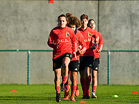 20200911 - TUBIZE , Belgium : Davina Philtjens pictured during the training session of the Belgian Women's National Team, Red Flames ahead of the Women's Euro Qualifier match against Switzerland, on the 28th of November 2020 at Proximus Basecamp. PHOTO: SEVIL OKTEM   SPORTPIX.BE