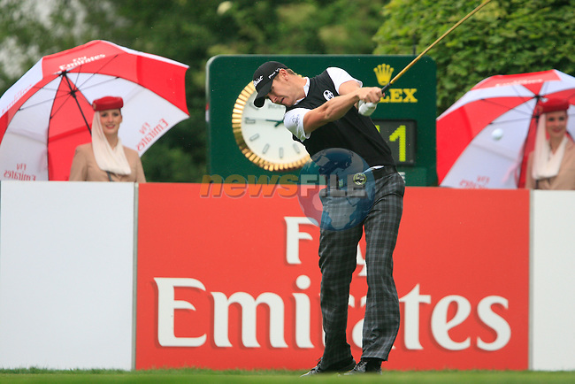 Lloyd Saltman (SCO) tees off on the 1st tee to start his round during of Day 3 of the BMW International Open at Golf Club Munchen Eichenried, Germany, 25th June 2011 (Photo Eoin Clarke/www.golffile.ie)