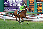 Look at the Time (no. 9), ridden by Corey Lanerie and trained by Wesley Hawley, wins the 30th running of the Gentilly Stakes for three year old Louisiana breds on February 25, 2012 at Fair Grounds Race Course in New Orleans, Louisiana.  (Bob Mayberger/Eclipse Sportswire)