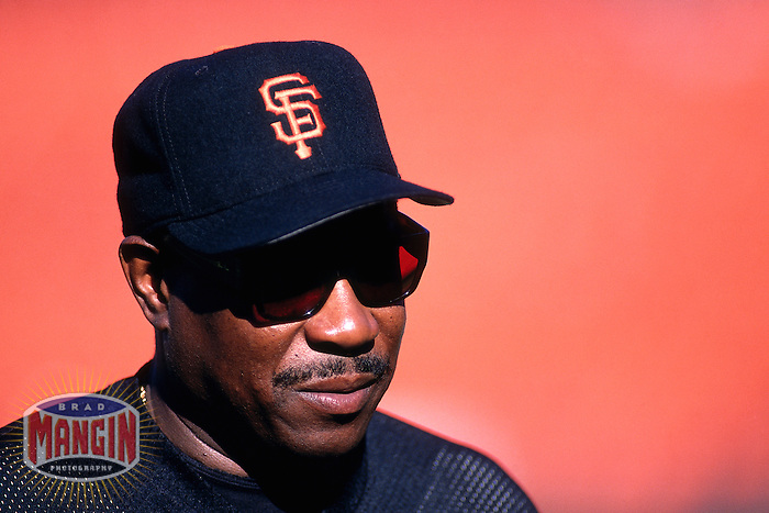 SAN FRANCISCO, CA - Manager Dusty Baker of the San Francisco Giants watches batting practice before a game at Candlestick Park in San Francisco, California in 1997. Photo by Brad Mangin