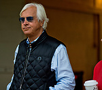 DEL MAR, CA - NOVEMBER 01: Bob Baffert watches Arrogate take a bath after morning work outs at Del Mar Thoroughbred Club on November 1, 2017 in Del Mar, California. (Photo by Scott Serio/Eclipse Sportswire/Breeders Cup)
