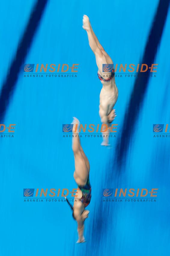 POLYAKOVA Maria and MOLCHANOV Ilia RUS<br /> Diving - Mixed 3m Synchro springboard final<br /> Day 10 02/08/2015<br /> XVI FINA World Championships Aquatics Swimming<br /> Kazan Tatarstan RUS July 24 - Aug. 9 2015 <br /> Photo Giorgio Perottino/Deepbluemedia/Insidefoto