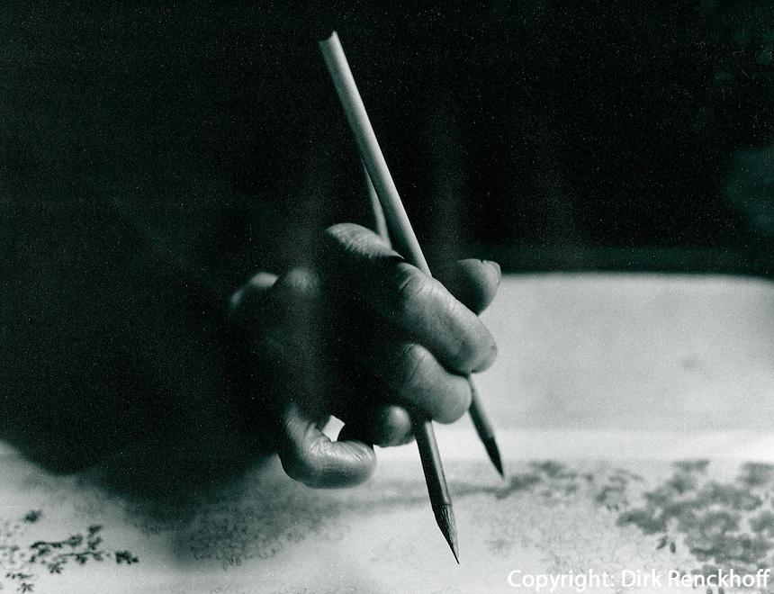Seidenmalerei  in Hangzhou, China 1976