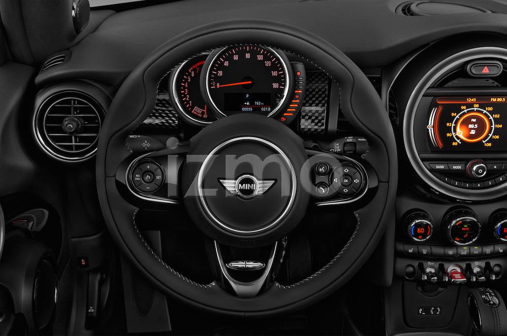 Car pictures of steering wheel view of a 2016 MINI MINI Cooper-S-Fwd 2 Door Convertible Steering Wheel