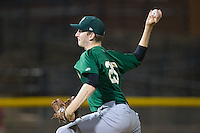 Savannah Sand Gnats relief pitcher Jimmy Duff (25) delivers a pitch to the plate against the Hickory Crawdads at L.P. Frans Stadium on June 15, 2015 in Hickory, North Carolina.  The Crawdads defeated the Sand Gnats 4-1.  (Brian Westerholt/Four Seam Images)