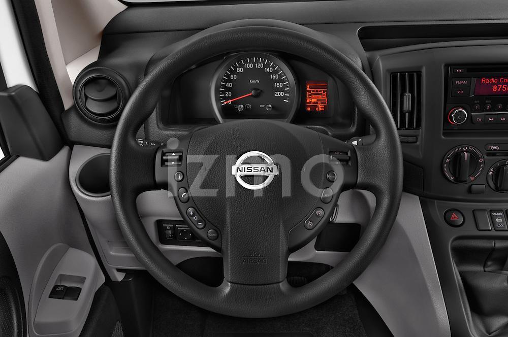 Car pictures of steering wheel view of a 2015 Nissan NV200 Visia 5 Door Cargo Van