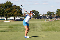 6th September 2021: Toledo, Ohio, USA;  Georgia Hall of Team Europe hits her tee shot on the 15th hole during the singles matches of the Solheim Cup on September 6, 2021 at Inverness Club in Toledo, Ohio.