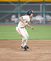 Conor Gillaspie / AZL Giants in action against the Padres at Scottsdale Stadium - 08/09/2008..Photo by:  Bill Mitchell/Four Seam Images