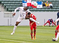 CARSON, CA - March 23, 2012: Hilder Colon (4) of Honduras during the Honduras vs Panama match at the Home Depot Center in Carson, California. Final score Honduras 3, Panama 1.