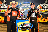 NASCAR Camping World Truck Series<br /> winstaronlinegaming.com 400<br /> Texas Motor Speedway, Ft. Worth, TX USA<br /> Friday 9 June 2017<br /> Christopher Bell, JBL Toyota Tundra, celebrates in Victory Lane.<br /> World Copyright: John K Harrelson<br /> LAT Images<br /> ref: Digital Image 17TEX2jh_02567