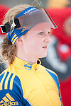 MARTELL-VAL MARTELLO, ITALY - FEBRUARY 02: BRORSSON Mona (SWE) after the Women 7.5 km Sprint at the IBU Cup Biathlon 6 on February 02, 2013 in Martell-Val Martello, Italy. (Photo by Dirk Markgraf)