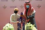 February 19 2021: Mike Smith lands third place overall in the Jockeys Challenge. Scenes from King Abddulaziz Racetrack, Riyadh, Saudi Arabia. Shamela Hanley/Eclipse Sportswire