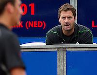09-09-11, Tennis, Alphen aan den Rijn, Tean International, Thiemo de Bakker wort aangemoedigd door zijn nieuwe coach Ivo Ancic