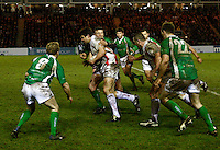 Photo: Richard Lane/Richard Lane Photography. England Legends v Ireland Legends. The Stuart Mangan Memorial Cup. 26/02/2010. England's Martin Corry attacks.