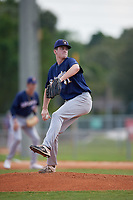 Luke Holman (41) during the WWBA World Championship at Terry Park on October 8, 2020 in Fort Myers, Florida.  Luke Holman, a resident of Sinking Spring, Pennsylvania who attends Wilson High School, is committed to Alabama.  (Mike Janes/Four Seam Images)