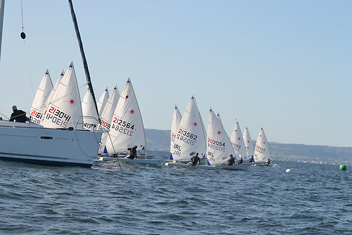ILCA racing at the RYA NI champs Photo: Simon McIlwaine