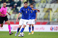 11th October 2020, The Stadion Energa Gdansk, Gdansk, Poland; UEFA Nations League football, Poland versus Italy; Jorginho positions for a shot on goal for Italy
