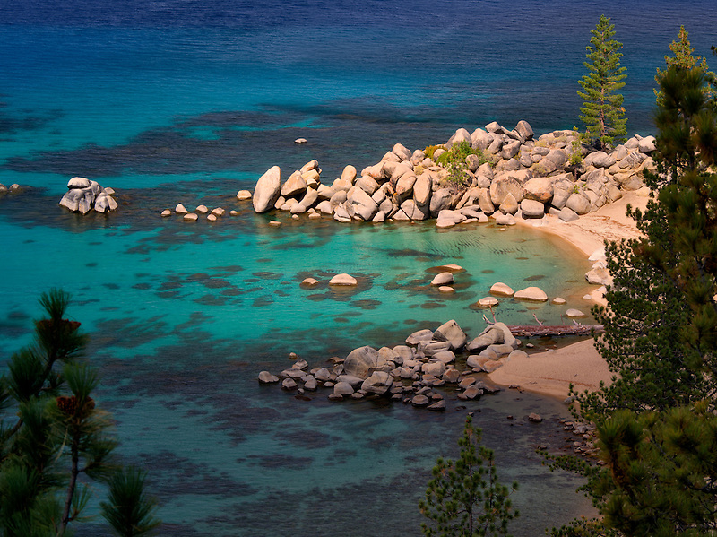 Chimney Beach cove. Lake Tahoe, Nevada
