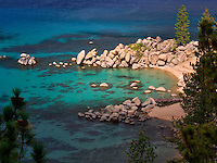 Chimney Beach cove. Lake Tahoe, Nevada