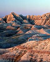 Mounds and pinnacles, Badlands National Park, South Dakota