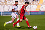 Nguyen Cong Phuong of Vietnam (R) competes for the ball with Seyed Saman Ghoddoos of Iran (L) during the AFC Asian Cup UAE 2019 Group D match between Vietnam (VIE) and I.R. Iran (IRN) at Al Nahyan Stadium on 12 January 2019 in Abu Dhabi, United Arab Emirates. Photo by Marcio Rodrigo Machado / Power Sport Images