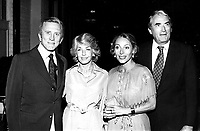 **FILE PHOTO** Anne Douglas Has Passed Away.<br /> <br /> Kirk Douglas And Anne Douglas With Veronique And Gregory Peck  1978 <br /> CAP/MPI/RAP<br /> ©RAP/MPI/Capital Pictures