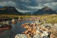 Buachaille Etive Mor and Creise and the River Etive, Rannoch Moor, Glencoe, Highland
