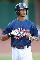 Elizabethton Twins center fielder Byron Buxton #41 during a game against the Greenville Astros at Joe O'Brien Field on August 21, 2012 in Elizabethton, Tennessee. The Twins  defeated the Astros 7-5 (Tony Farlow/Four Seam Images).