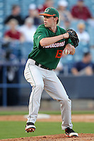 """Miami Hurricanes Sam Robinson #13 during a game vs. the University of South Florida Bulls in the """"Florida Four"""" at George M. Steinbrenner Field in Tampa, Florida;  March 1, 2011.  USF defeated Miami 4-2.  Photo By Mike Janes/Four Seam Images"""