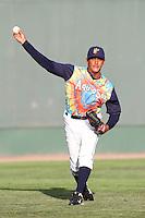 Everett Aquasox pitcher Jose Campos #34 before a game against the Tri-City Dust Devils at Everett Memorial Stadium on August 13, 2011 in Everett,Washington. Everett defeated Tri-City 6-4.(Larry Goren/Four Seam Images)