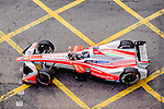 Nick Heidfeld of Mahindra Racing team during the first stop of the FIA Formula E Championship HKT Hong Kong ePrix at the Central Harbourfront Circuit on 9 October 2016, in Hong Kong, China. Photo by Marcio Rodrigo Machado / Power Sport Images