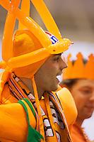 07-04-13, Tennis, Rumania, Brasov, Daviscup, Rumania-Netherlands, Dutch supporters