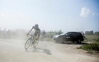 Robin Stenuit (BEL/Wanty-Groupe Gobert) cornering on a dusty gravel/grid zone<br /> <br /> 92th Schaal Sels 2017