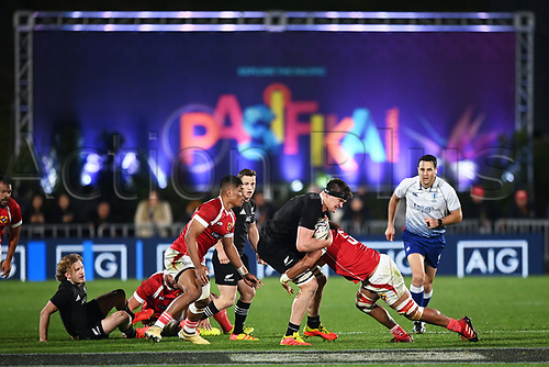3rd July 2021, Auckland, New Zealand;  Scott Barrett. New Zealand All Blacks versus Tonga, Steinlager Series, international rugby union test match. Mt Smart Stadium, Auckland. New Zealand.