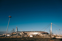 A view of the Juventus stadium. Italy closed all schools and universities until March 15. <br /> Italian government suspended the people access to all sporting events until April 3rd as part of measures against coronavirus COVID-19 . <br /> Serie A football matches will take place behind closed doors. <br /> <br /> <br /> Torino 04/03/2020 Juventus Stadium <br /> Photo Federico Tardito / Insidefoto