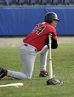 June 19, 2004:  Shortstop Jon Fulton of the Jamestown Jammers, Single-A NY-Penn League affiliate of the Florida Marlins, during a game at Dwyer Stadium in Batavia, NY.  Photo by:  Mike Janes/Four Seam Images