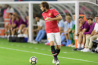 Houston, TX - Thursday July 20, 2017: Daley Blind during a match between Manchester United and Manchester City in the 2017 International Champions Cup at NRG Stadium.