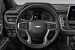 Car pictures of steering wheel view of a 2021 Chevrolet Suburban Premier 5 Door SUV Steering Wheel