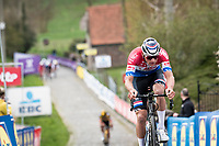 Mathieu Van der Poel (NED/Alpecin-Fenix) up the Paterberg<br /> <br /> 105th Ronde van Vlaanderen 2021 (MEN1.UWT)<br /> <br /> 1 day race from Antwerp to Oudenaarde (BEL/264km) <br /> <br /> ©kramon