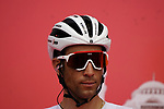 Vincenzo Nibali (ITA) Trek-Segafredo at sign on before the start of Stage 6 of the 2021 UAE Tour running 165km from Deira Island to Palm Jumeirah, Dubai, UAE. 26th February 2021.  <br /> Picture: Eoin Clarke   Cyclefile<br /> <br /> All photos usage must carry mandatory copyright credit (© Cyclefile   Eoin Clarke)