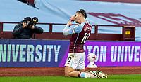 4th October 2020, Villa Park, Birmingham, England;  Aston Villas Jack Grealish celebrates scoring during the English Premier League match between Aston Villa and Liverpool at Villa Park