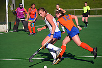 Auckland White v Tauranga. 2021 National Women's Under-18 Hockey Tournament day four at National Hockey Stadium in Wellington, New Zealand on Wednesday, 14 July 2021. Photo: Dave Lintott / lintottphoto.co.nz https://bwmedia.photoshelter.com/gallery-collection/Under-18-Hockey-Nationals-2021/C0000T49v1kln8qk