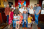 Maurice Leahy from Causeway celebrating his 70th in the Grand Hotel on Saturday, seated l to r: Jamie Leahy, Ryan Moloney, Carmel, Maurice and Daisy May Leahy.