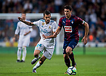 Daniel Ceballos Fernandez, D Ceballos (l), of Real Madrid fights for the ball with Ander Capa Rodriguez of SD Eibar during the La Liga 2017-18 match between Real Madrid and SD Eibar at Estadio Santiago Bernabeu on 22 October 2017 in Madrid, Spain. Photo by Diego Gonzalez / Power Sport Images