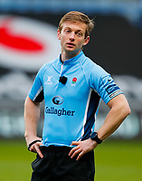 27th March 2021; Ricoh Arena, Coventry, West Midlands, England; English Premiership Rugby, Wasps versus Sale Sharks; Referee Christophe Ridley