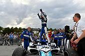 Takuma Sato, Rahal Letterman Lanigan Racing Honda celebrates the win in Victory Lane