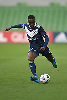 6th June 2021; AAMI Park, Melbourne, Victoria, Australia; A League Football, Melbourne Victory versus Melbourne City; Adama Traore of the Victory takes a shot on goal