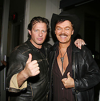 Costas Mandylor and Randy Jones (Village People) at the Gala Awards Ceremony of the 2008 Hoboken International Film Festival which concluded  with Billy Dee Williams being presented the Lifetime Achievement Award and then nominees and winners were announced on June 5, 2008 at Pier A Park, Hoboken, New Jersey.  (Photo by Sue Coflin/Max Photos)